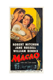 MACAO, Robert Mitchum, Jane Russell, 1952 Posters