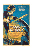 THE MAN FROM PLANET X, l-r: Pat Goldin, Margaret Field on poster art, 1951. Prints