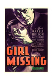 GIRL MISSING, US poster, from left: Peggy Shannon, Ben Lyon, 1933 Prints