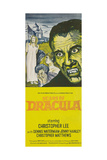 SCARS OF DRACULA, right: Christopher Lee on insert poster, 1970 Prints