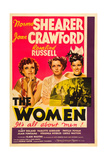 THE WOMEN, from left: Joan Crawford, Norma Shearer, Rosalind Russell, 1939 Poster