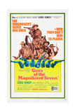 GUNS OF THE MAGNIFICENT SEVEN, US poster, George Kennedy (top), 1969 Art