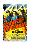 COUNTER-ESPIONAGE, US poster, Forrest Tucker, Hillary Brooke, Warren William, 1942 Prints