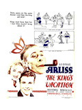 THE KING'S VACATION, from top right: George Arliss, Patrica Ellis, Dick Powell on window card, 1933 Posters