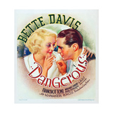 DANGEROUS, l-r: Bette Davis, Franchot Tone on window card, 1935 Posters