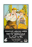 LOVE, l-r: Roscoe 'Fatty' Arbuckle, Winifred Westover on poster art, 1919 Prints