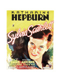 SYLVIA SCARLETT, US poster art, Katharine Hepburn, 1935 Print