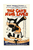THE CAT'S NINE LIVES, cartoon animation poster art, 1926. Prints