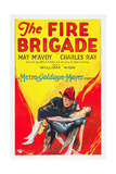 THE FIRE BRIGADE, l-r: Charles Ray, May McAvoy on poster art, 1926. Prints