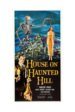 THE HOUSE ON HAUNTED HILL, bottom left: Vincent Price, 1959 Posters