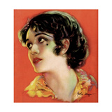 Pola Negri, artwork from the cover of Motion Picture magazine, ca, mid-1920s Prints