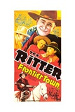FRONTIER TOWN, Tex Ritter, Ed Cassidy, Charles King, 1938 Prints