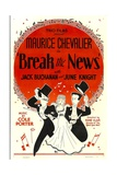 BREAK THE NEWS, from left: Maurice Chevalier, June Knight, Jack Buchanan, 1938 Prints