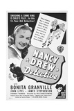 NANCY DREW - DETECTIVE, US ad art, Bonita Granville, 1938 Posters