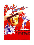 Buck Jones on stock window card, 1936 Prints