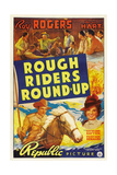 ROUGH RIDERS ROUND-UP, Roy Rogers, Trigger, Lynne Roberts [aka Mary Hart], 1939 Prints