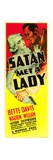SATAN MET A LADY, from left: Bette Davis, Warren William, 1936. Posters