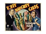FORTY NAUGHTY GIRLS, left: James Gleason, right: Zasu Pitts, 1937 Prints