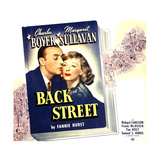 BACK STREET, from left: Charles Boyer, Margaret Sullavan on jumbo window card, 1941. Posters
