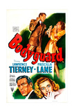 BODYGUARD, US poster, Lawrence Tierney, Priscilla Lane, 1948 Prints