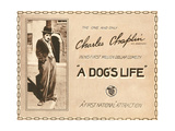 A DOG'S LIFE, Charlie Chaplin on title lobbycard, 1918. Prints
