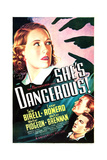SHE'S DANGEROUS!, US poster art, from top: Tala Birell, Walter Pidgeon, Cesar Romero, 1937 Prints