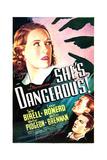 SHE'S DANGEROUS!, US poster art, from top: Tala Birell, Walter Pidgeon, Cesar Romero, 1937 Prints