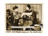 THE SQUAW MAN, l-r: Pat Moore, Ann Little on lobbycard, 1918 Posters