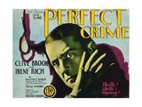 PERFECT CRIME, Clive Brook on title card, 1928 Print