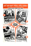 Multiple poster for HOT ROD GANG (1958), MOTORCYCLE GANG (1957) Prints
