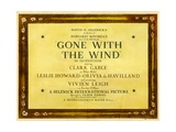 GONE WITH THE WIND, poster art, 1939 Prints