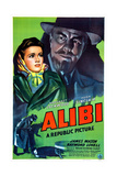 ALIBI, US poster, from left: Margaret Lockwood, Hugh Sinclair, 1942 Posters
