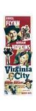 VIRGINIA CITY, from top: Errol Flynn, Miriam Hopkins, bottom left: Randolph Scott, 1940 Posters