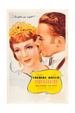 TOVARICH, l-r: Claudette Colbert, Charles Boyer on poster art, 1937 Print