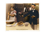 BACK TO THE KITCHEN, from left: Louise Fazenda, Phil Dunham on a lobbycard, 1919. Prints