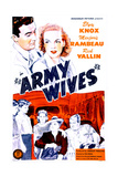 ARMY WIVES, US poster, top from left: Rick Vallin, Elyse Knox, 1944 Prints