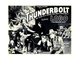 THUNDERBOLT, top left and bottom far right: Lobo the Marvel Dog, 1935. Posters
