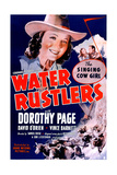 WATER RUSTLERS, US poster, center: Dorothy Page, second from right: Dave O'Brien, 1939. Poster