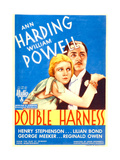 DOUBLE HARNESS, from left: Ann Harding, William Powell on midget window card, 1933. Posters