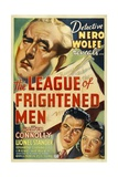 THE LEAGUE OF FRIGHTENED MEN, Walter Connolly, 1937 Print