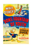 DON'S FOUNTAIN OF YOUTH, top right and bottom: Donald Duck, 1953. Posters
