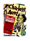 CHARLEY'S AUNT, left: Charles Ruggles on window card, 1930 Prints