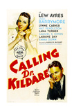 CALLING DR. KILDARE, from left on US poster art: Laraine Day, Lew Ayres, 1939 Print