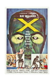 THE MAN WITH THE X-RAY EYES, (aka X-THE MAN WITH THE X-RAY EYES), poster art, 1963 Poster