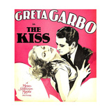 THE KISS, from left: Greta Garbo, Lew Ayres on window card, 1929. Premium Giclee Print