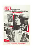 THE GETAWAY, l-r: Sam Peckinpah, Steve McQueen, Ali MacGraw on US advance poster art, 1972 Posters