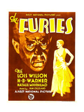 THE FURIES, from left: H.B. Warner, Lois Wilson on window card, 1930 Art
