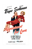 APPOINTMENT FOR LOVE, US poster, Charles Boyer, Margaret Sullavan, 1941 Plakater