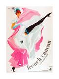 FRENCH CANCAN, (aka ONLY THE FRENCH CAN), Italian poster art, 1955 Poster