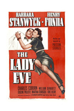 THE LADY EVE, poster, from left: Henry Fonda, Barbara Stanwyck, 1941 Prints